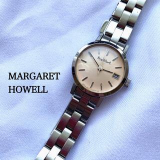 マーガレットハウエル(MARGARET HOWELL)のマーガレットハウエル 腕時計 旧ロゴ シルバー ピンク系 時計(腕時計)
