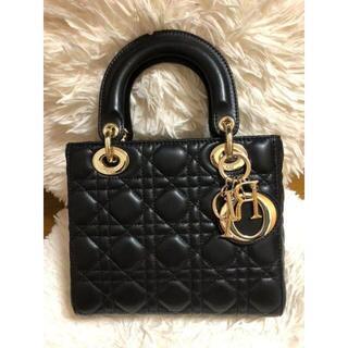 Christian Dior - Dior レディディオール ハンドバッグ ショルダー 黒 ブラック ラムスキン