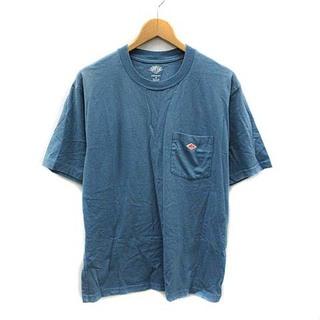 ダントン(DANTON)のダントン DANTON Tシャツ カットソー コットン 半袖 40 L 青(Tシャツ/カットソー(半袖/袖なし))