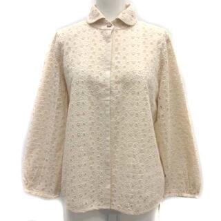 mina perhonen - ミナペルホネン sun moss ブラウス シャツ 刺繍 38 M ベージュ