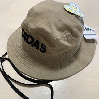 adidas - 新品 正規品 adidas  バケットハット 帽子   ベージュ ロゴ バケハ