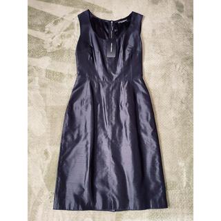 DOLCE&GABBANA - Dolce&Gabbana 最高級 シルク ブラック ドレス ワンピース