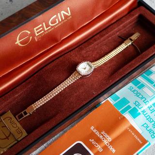 オメガ(OMEGA)の超美品🌟ELGIN エルジン ダイヤベゼル 電池交換済🌟トゥモローランド(腕時計)