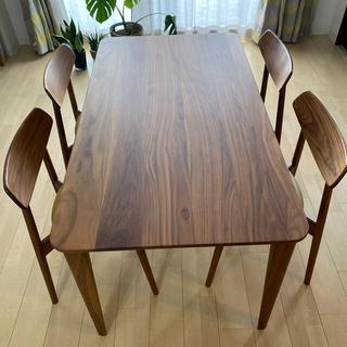 カリモクカグ(カリモク家具)のカリモク ダイニングセット ウォールナット(ダイニングテーブル)