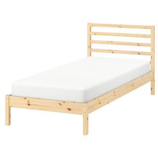 IKEA - IKEA パイン無垢材 セミダブル ベッド 解体済み ペイントも可