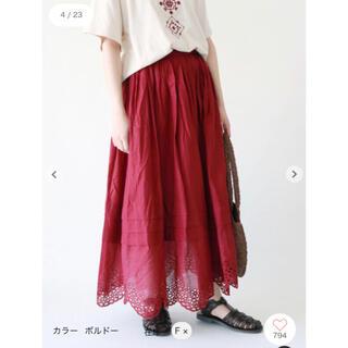 SM2 - サマンサモスモス 裾スカラップスカート ボルドー SM2 ツハル エヘカソポ