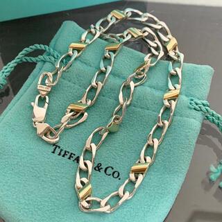 Tiffany & Co. - 希少 ティファニー ネックレス 喜平 コンビ 925 750 ヴィンテージ
