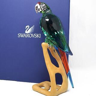 スワロフスキー(SWAROVSKI)の希少 SWAROVSKI スワロフスキー コンゴウインコ 置物 箱付(置物)
