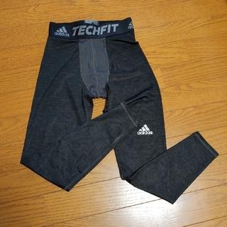 adidas - adidas TECHFIT スパッツ 黒 サイズM
