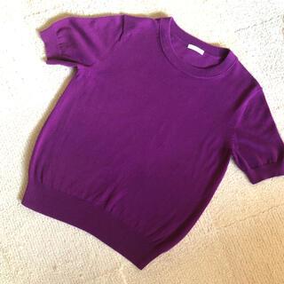 ジーユー(GU)の半袖ニット (ニット/セーター)