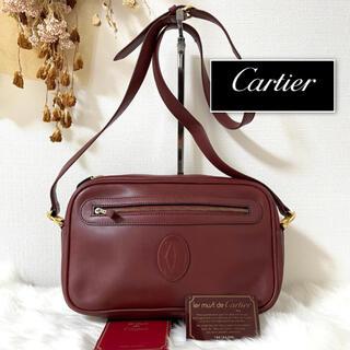 Cartier - 【美品】カルティエ 本革 ショルダーバッグ マストライン