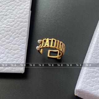 ディオール(Dior)の保存袋付き CD リング(リング(指輪))