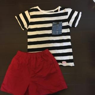 マーキーズ(MARKEY'S)のMARKE'S  Tシャツ(120)キュロット(110)セット(Tシャツ/カットソー)