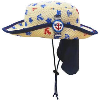 mikihouse - ミキハウス 日よけフラップ付き ダブルラッセルテンガロンハット 帽子 54cm