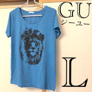 GU - GU ジーユー 半袖ロゴTシャツ L 11号 大きいサイズ ゆったり 送料込み