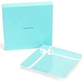 ティファニー(Tiffany & Co.)のTiffany ブルーボックスプレート スクエアプレート 新品未使用(食器)