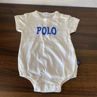 ポロラルフローレン(POLO RALPH LAUREN)のベビー服 ロンパース POLO ラルフローレン  男女兼用 ホワイト 70cm(ロンパース)