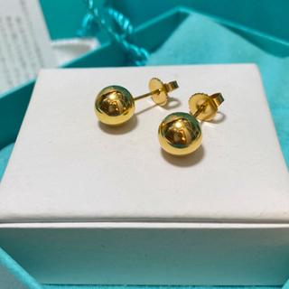Tiffany & Co. - 美品tiffanyハードウェアボールピアス18kゴールド