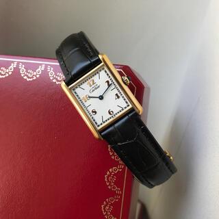 Cartier - 美品 カルティエ Cartier マストタンク 6点アラビア 腕時計 SM