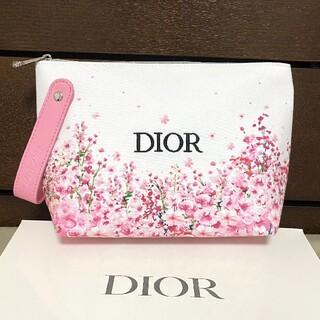 Christian Dior - ディオール メイクポーチ 花 ピンク 桜