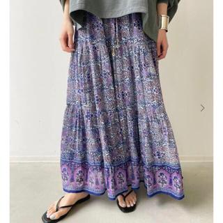 アパルトモンドゥーズィエムクラス(L'Appartement DEUXIEME CLASSE)の【専用】アパルトモンBLUE BOHEME CottonTiered Skirt(ロングスカート)