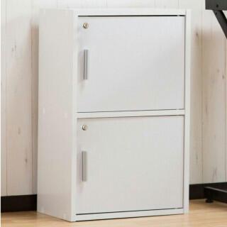 収納ボックス 2段 ホワイト 新品