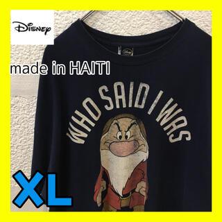 Disney - A2774 Disney プリント Tシャツ 白雪姫 おじさん オーバーサイズ