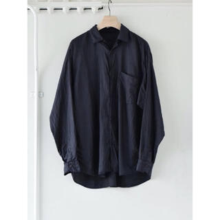 COMOLI - COMOLI(コモリ) シルクシャツ 21ss サイズ4 Navy