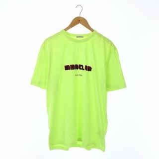 モンクレール(MONCLER)のモンクレール カットソー Tシャツ 半袖 ロゴ プリント 国内正規 XL 黄緑 (Tシャツ/カットソー(半袖/袖なし))