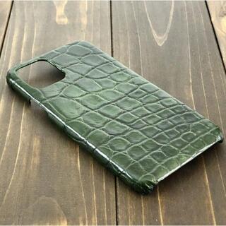 クロコダイル iphone 11 pro スマホ ケース グリーン カバー(その他)