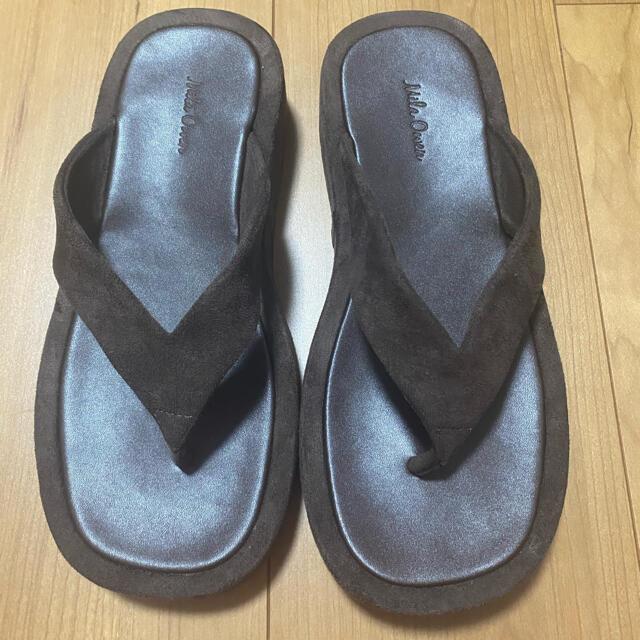 Mila Owen(ミラオーウェン)のミラオーウェン Mila Owen ワイドトングサンダル  レディースの靴/シューズ(サンダル)の商品写真