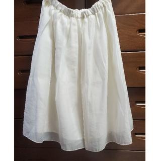 テチチ(Techichi)の膝丈スカート ホワイト(ひざ丈スカート)