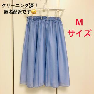 テチチ(Techichi)の膝丈 スカート M 青系 (ひざ丈スカート)
