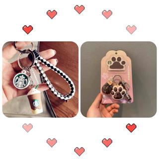 Starbucks Coffee - 【スターバックス海外限定】日本未発売 キーホルダー フラペチーノ 白黒