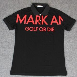MARK&LONA - MARK&LONA(マーク&ロナ) ビッグロゴプリント ポロシャツ ブラック×赤