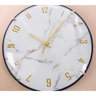 掛け時計 マーブル調 新品未使用