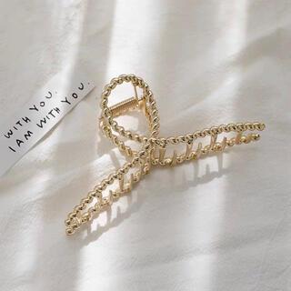 【新品未使用】韓国 ゴールド ヘアクリップ バレッタ ♡♡11.5cm♡♡(バレッタ/ヘアクリップ)