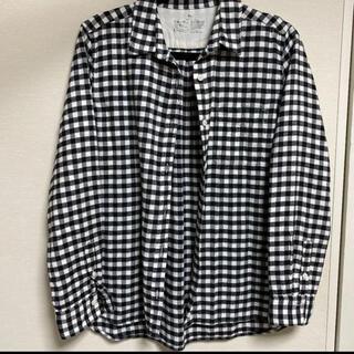ムジルシリョウヒン(MUJI (無印良品))の無印良品 MUJI チェックシャツ 白黒(シャツ/ブラウス(長袖/七分))