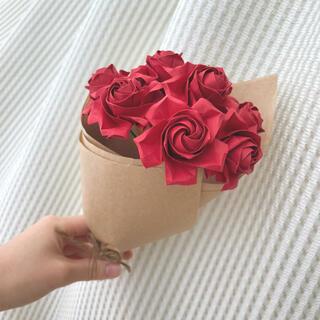 【送料無料】折り紙ブーケ レッド(その他)