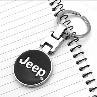 ジープ(Jeep)のラスト1点!★ジープJeepキーホルダー(シルバー)★(車内アクセサリ)