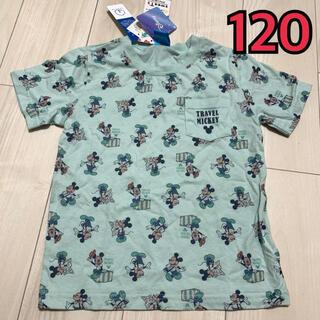 シマムラ(しまむら)の未使用タグ付き ディズニー レトロミッキーTシャツ 120(Tシャツ/カットソー)
