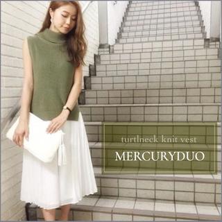 MERCURYDUO - MERCURY DUO タートルネックニットベスト snidel ザラ エモダ