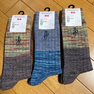 ユニクロ(UNIQLO)のユニクロ メンズ  靴下  ソックス 25〜27cm 未使用(ソックス)