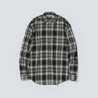 COMOLI - AURALEE 21AW ウールチェックシャツ ブラック サイズ4 新品未使用