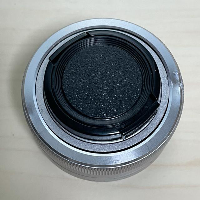 Panasonic(パナソニック)の凹み有 Panasonic LUMIX G VARIO 12-32mm シルバー スマホ/家電/カメラのカメラ(レンズ(ズーム))の商品写真