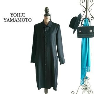ヨウジヤマモト(Yohji Yamamoto)のYOHJI YAMAMOTO ヨウジヤマモト ワンピース ブラック(ひざ丈ワンピース)