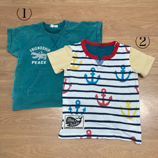 サンカンシオン(3can4on)の2枚セット Tシャツ 半袖 男の子 90cm 95cm(Tシャツ/カットソー)