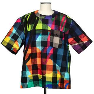 sacai - sacai × kaws plaid pullover サイズ1 ステッカー付き