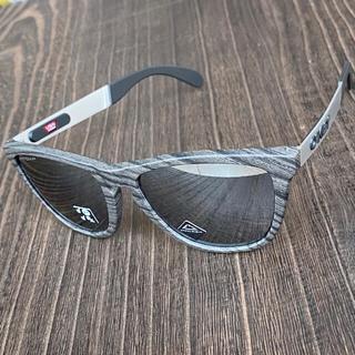 Oakley - サングラス オークリー フロッグスキン ミックス 偏光 プリズム ブラック 木目