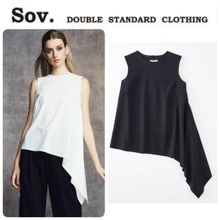ダブルスタンダードクロージング(DOUBLE STANDARD CLOTHING)の定価20900 新品 ダブスタ Sov. ノースリーブブラウス 手洗い可♪(シャツ/ブラウス(半袖/袖なし))